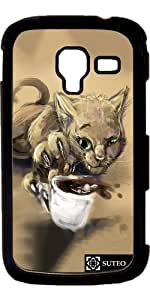 Coque Samsung Galaxy Ace 2 – Chat – tasse de café - ref 1162
