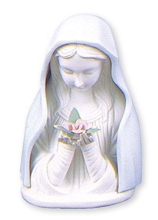 Iluminado Virgen María Estatua cerámica 41/2