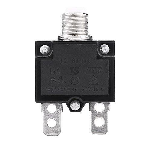 Qiilu QL05671 AC 125/250 V Resetta Interruttore Interruttore termico Over Current Protector per generatore(15A)
