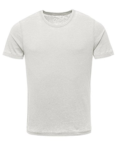 JACK & JONES Herren T-Shirt Jorwild Tee Ss Crew Neck Grau (Mirage Gray Fit:Slim)