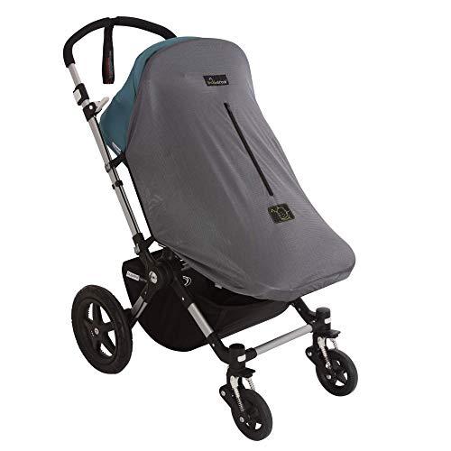 SnoozeShade Original Deluxe (0-6 m) - Parasole universale per passeggini e carrozzine - Blocca il 97,5% dei raggi UV