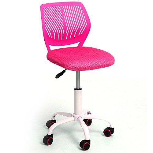 Aingoo Silla de oficina en casa media de la espalda ajustable sillas de ordenador de escritorio para el estudio de los ni?os ni?os, rosa