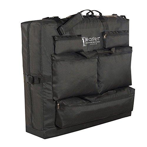 78740 Master Massage Sac de transport en nylon pour table de massage Noir