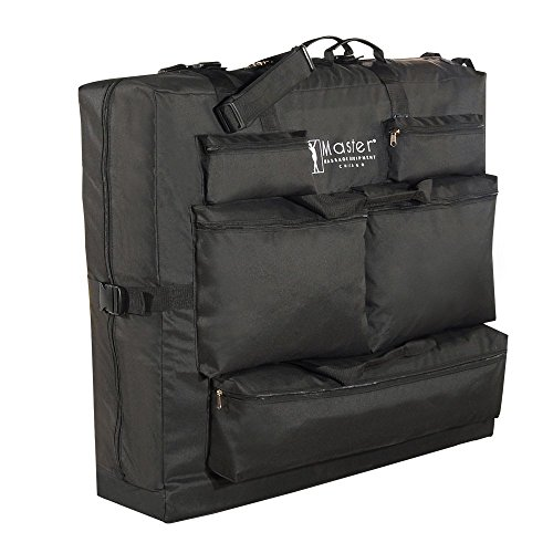 Master 78740 - Bolsa de transporte para camillas de masaje (tejido de nailon, transporte sencillo), color negro