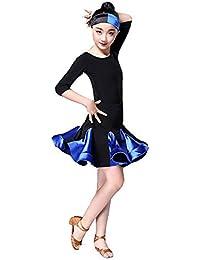 Concurso de belleza de chicas Kids Girls Vestido de baile latino Media  manga Rumba Samba Salón de baile Ropa de baile… e4eafe0bd8ac0