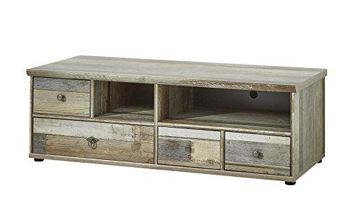 Stella Trading Bonanza Lowboard, TV-Bank, Holz, braun, (B/H/T)130 x 43 x 52 cm
