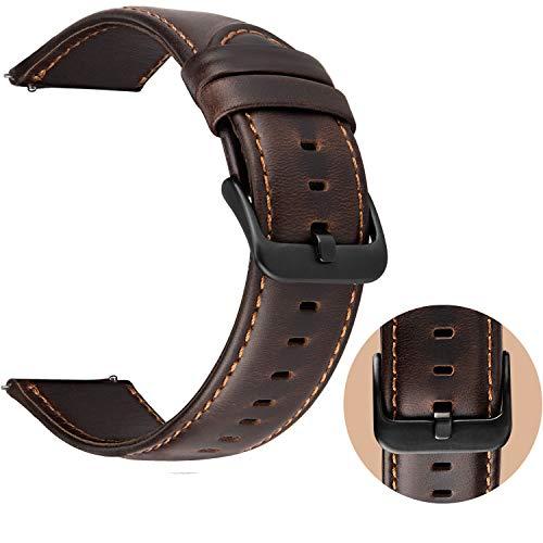 afb54f327380 Correa Reloj 22mm Cuero para Samsung Galaxy Watch 46mm   Gear S3 Frontier    Gear S3 Classic