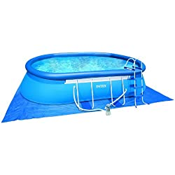 Intex - 54432Fr - Piscine - Kit Piscine Ellipse 5,49 X 3,05 X 1,07 M - Autostable Ovale - Épurateur À Cartouche 3,8 M3/H Inclus