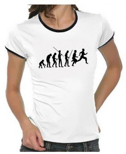 LAUFEN running Joggen Evolution ! GIRLY RINGER weiss Gr.XL - Zeit Ringer T-shirt