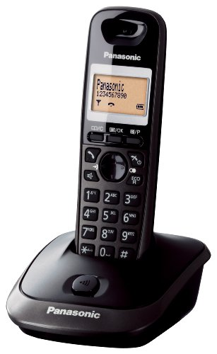 Panasonic KX-TG2511JTT - Teléfono (Teléfono DECT, 50 entradas, Identificador de llamadas, Titanio)