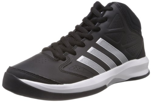 adidas Isolation G65870, Herren Basketballschuhe, Schwarz (black 1 / metallic silver / running white ftw), EU 44 2/3 (UK 10)