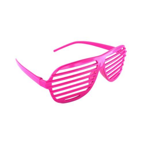 Rosa / Pink Neuheit-Shutter Shades Sonnenbrille