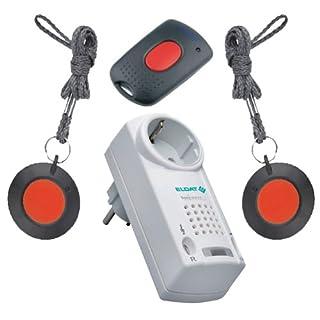 Notruf-System für Physiotherapiepraxis, Heilpraktikerpraxis und sonstige Praxen. Zusammengestellt aus Pflegeruf-Set-Komponenten von ELDAT