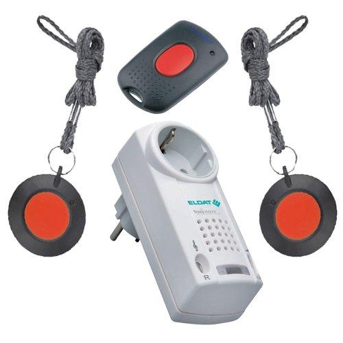 Preisvergleich Produktbild Notruf-System für Physiotherapiepraxis, Heilpraktikerpraxis und sonstige Praxen. Zusammengestellt aus Pflegeruf-Set-Komponenten von ELDAT