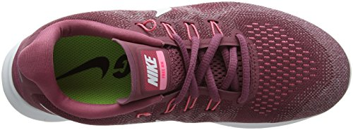 Nike Free RN 2017, Scarpe Running Donna Rosso (Vintage Wine/off White-elemental Rose-sunset Pulse 604)