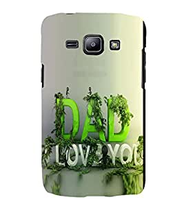 PrintVisa Love You Dad 3D Hard Polycarbonate Designer Back Case Cover for Samsung Galaxy J1 :: Samsung Galaxy J1 4G :: Samsung Galaxy J1 4G Duos :: Samsung Galaxy J1 J100F J100FN J100H J100H/DD J100H/DS J100M J100MU