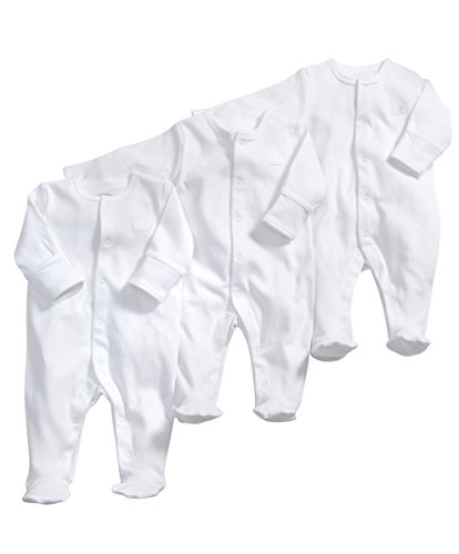 Mamas-and-Papas-Unisex-Baby-3-Pack-Essentials-All-in-one-Bodysuit