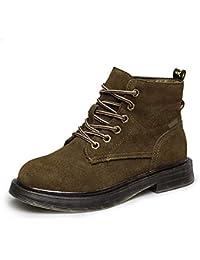 78423552543a5 YZ-Shoe Calzado de Mujer 2018 Invierno Retro Matte Martin Boots Womens Wild  Flat British