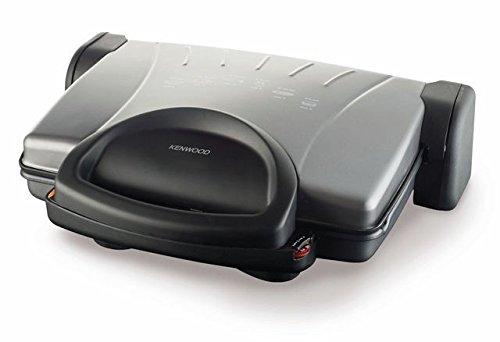 Kenwood HG 610 Plattengriller 1800W Elektrogrill Tischgriller Kontakgrill Silber (Kenwood 2000)