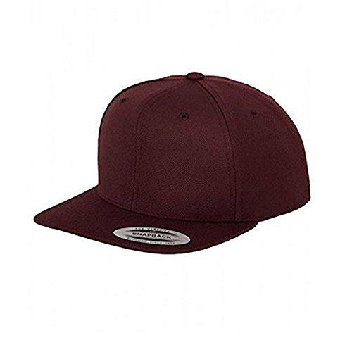 Flexfit ROT weinrot dunkelrot Snapback Basecap Baseball Trend Design Rapper Hip Hop Cap Snapback