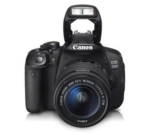 Canon EOS 700D 18MP Digital SLR Camera (Black) with 18-55mm IS II and 55-250mm IS II Lens, 8GB card and Carry Bag