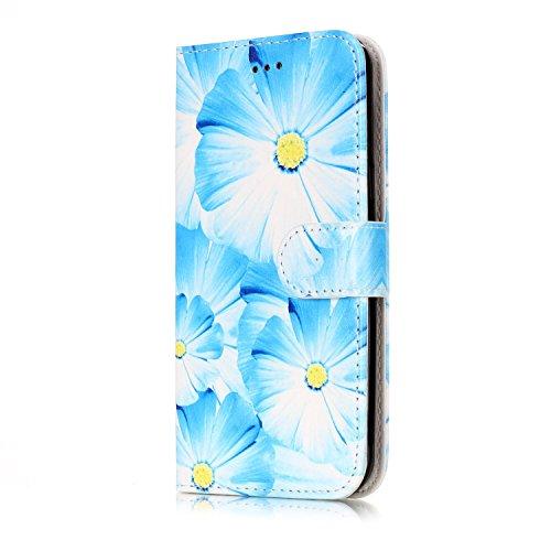 Samsung Galaxy J3 Custoida in Pelle Portafoglio,Samsung Galaxy J3 2016 Cover Pu Wallet,KunyFond Lusso Moda Marmo Dipinto Leather Flip Protective Cover con Bella Modello Cover Ultra Slim Folio Bookstyl orchidea