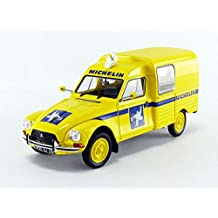 1986 Citroen Acadiane Michelin Amarilla 1:18 Solido 1800406