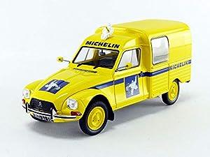 1986 Citroen Acadiane Michelin Amarilla 1:18 Solido 1800406