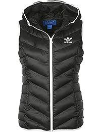 adidas Slim Vest Chaleco, Mujer, Negro, 38