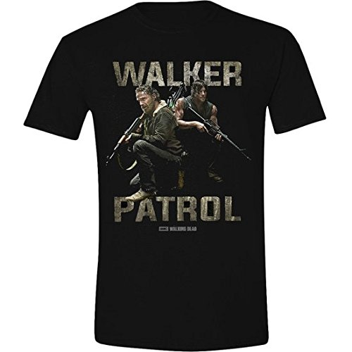 The Walking Dead Walkers Patrol-T-shirt  Uomo    nero Large