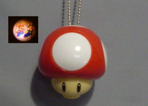 Nintendo Wii New Super Mario Swing Light Projector~ Red Mushroom Mario luigi