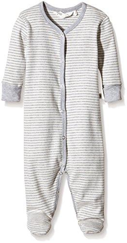 Müsli by Green Cotton Baby-Mädchen Formender Body Stripe Bodysuit w/Feet, Grau (Pale Greymarl 207670000), 86 (Green Pyjama Cotton)