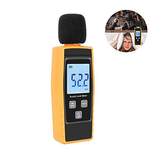 Dezibel-Messgerät, Digitales Schallpegelmessgerät 30-130dBA-Messgerät Audio Noise Measure Reader Selbstkalibrierter Überwachungstester