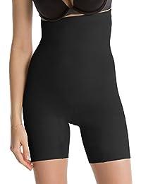 Dealseven Fashion Women's Cotton Lycra Tummy Control 4-in-1 Blended High Waist Tummy & Thigh Shapewear