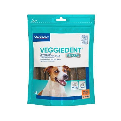 Virbac Veggiedent 15Kaustreifen für Hunde bis 10kg Körpergewicht, Größe S