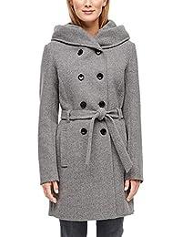 s.Oliver RED Label Damen Doppelreihiger Mantel mit Kapuze