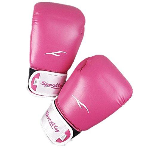 Boxhandschuhe Ego Training Stilvolle Boxtraining Handschuhe für Männer Frauen Boxsack MMA PU Leder für Sparring Kickboxing Kampfhandschuhe Muay Thai Zum Training Stanzen Sparring ( Farbe : Rosa ) (Rosa Handschuhe Stanzen)