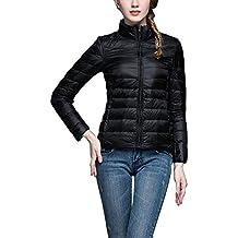 quality design 206c7 250f7 piumino donna corto nero - Amazon.it