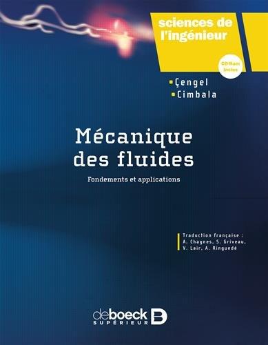 Mécanique des fluides par John M Cimbala