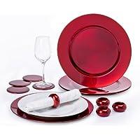 Platzteller, 12 Stück, Rot
