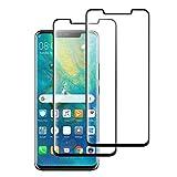 WARMYEE [2 Stück] Huawei Mate 20 Pro Panzerglas Schutzfolie,0,33mm,3D, [Bubble-frei] [9H Härte] [Einfache Installation] [Ultra-klar][Anti-Kratzen Wasserdicht] Gehärtetes Glas Displayschutzfolie