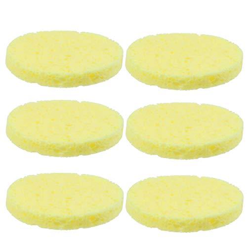 Healifty 12 stücke Luffa Pad Schwamm Wäscher Cellulose Gesicht Körper Dusche Bad Spa Peeling Pads Weiche Make-Up Schwämme Entferner Pad für Frauen (Gesichts-wäscher-schwamm)