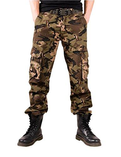Menschwear Herren Cargo Hosen Freizeit Multi-Taschen Military pantaloni Ripstop Cargo da uomo K8 tarnung 3