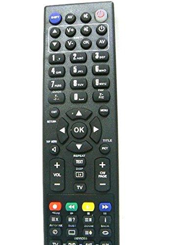 Telecomando Personalizzato (anche utilizzabile come Universale) innovativo e di facile uso: 25 IN 1 Scocca NERA; Puo' Sostituire Telecomandi: TV, Aux, VCR, LD, CABLE, HIFI, CD, AMP, SAT, SKY, DVD, AC