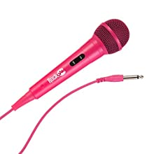 RockJam RJMC303-PK Wired Unidirectional Dynamic Microphone with Three Metre Cord Pink
