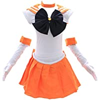 Kawaii-Story H de 6003 Sailor Moon Venus Naranja Blanco Cosplay Dress Disfraz  Costume 2f45ac73a3d3