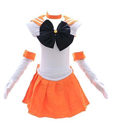 Kawaii-Story H-6003 Sailor Moon Venus gelb weiß Cosplay Dress Kostüm Costume (Japan Size - Sailor Venus Für Erwachsene Damen Kostüm