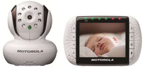 Motorola MBP36 Remote Wireless Video Baby Monitor - Tilt and Zoom (White)