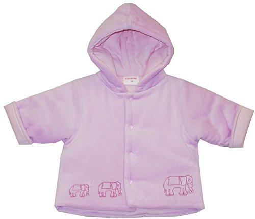 Schnizler Baby - Mädchen Jacke Kapuzenjacke Nicki Elefantenkette, warm wattiert, Gr. 56, Rosa (original 900)