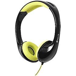 [Cable] NGS Speedy Diadema Binaurale Alámbrico Negro, Amarillo - Auriculares (Binaurale, Diadema, Negro, Amarillo, IPX4, Reproducir/Pausar, Track , 10 mW)